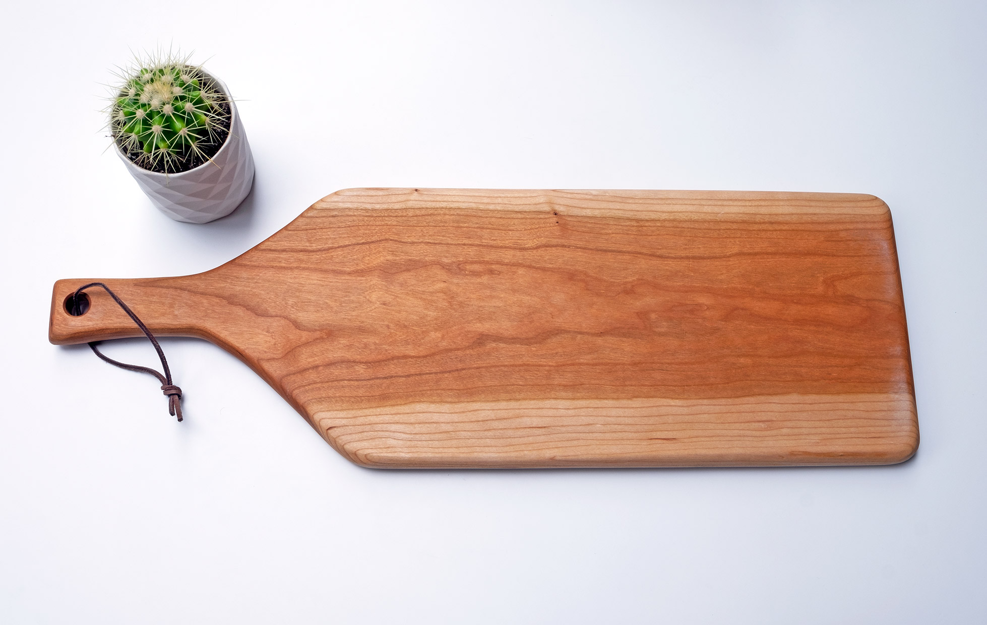 Black Cherry board for serving food.